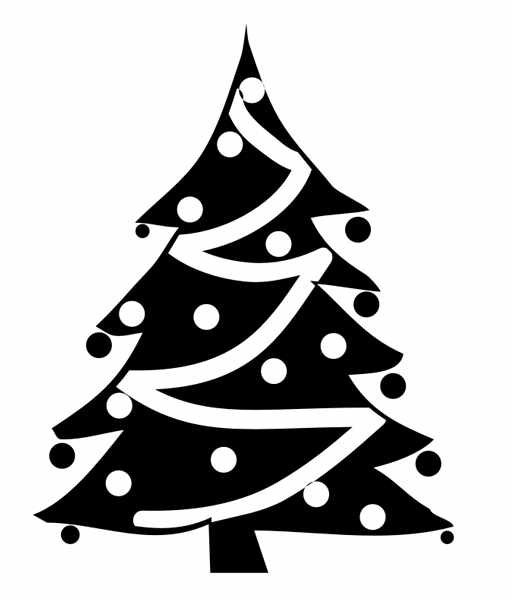 Christmas Tree Clipart Black And White1