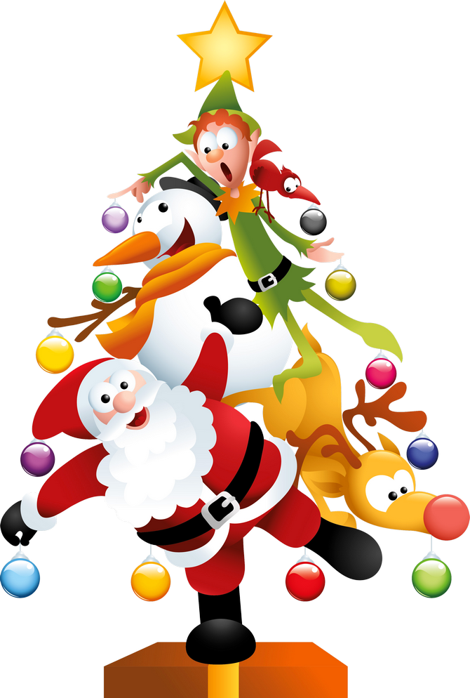 Christmas tree clipart free - .