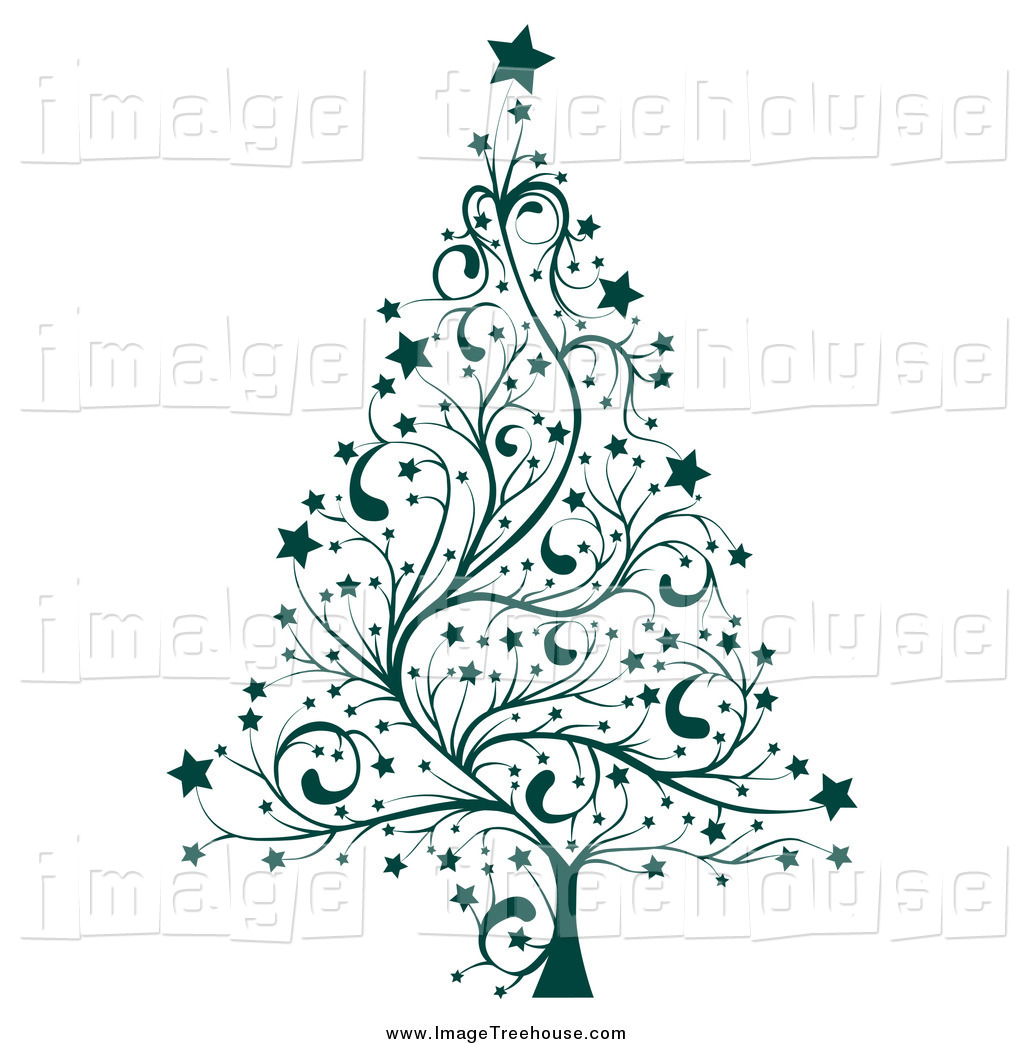 Christmas tree free clip art - .