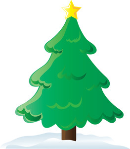 Christmas tree free clipart - .