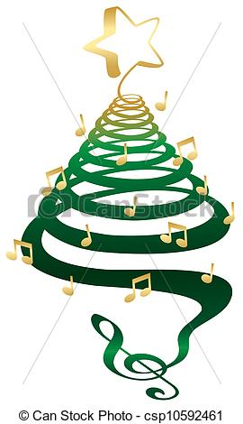 Christmas Tree Music Notes .