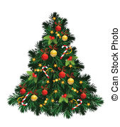 ... Christmas tree with balls, stars, ca-... Christmas tree with balls, stars, candies-13