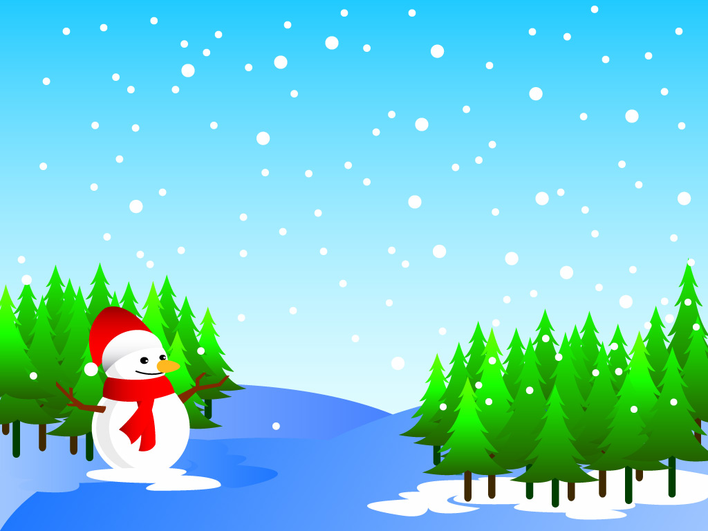 Christmas Trees And Snowman .-Christmas Trees And Snowman .-10
