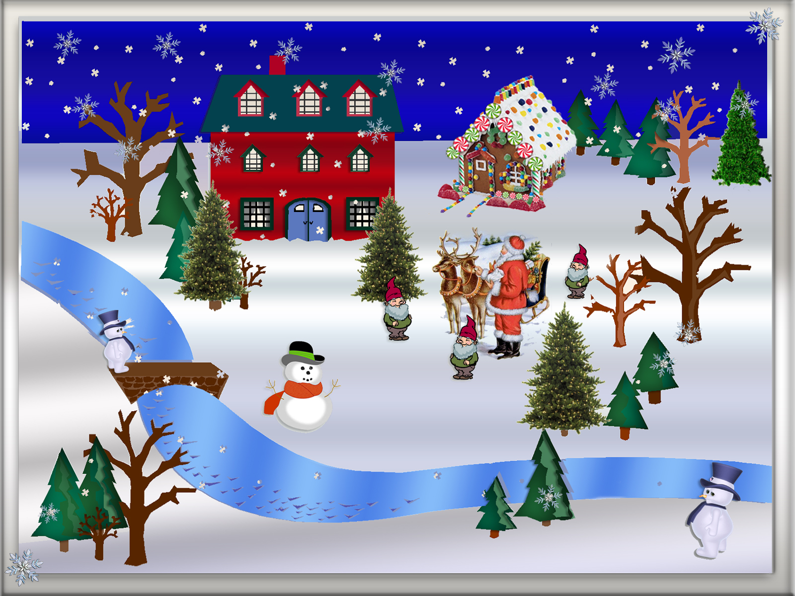 Christmas winter scene clipart - Clipart-Christmas winter scene clipart - ClipartFest-9