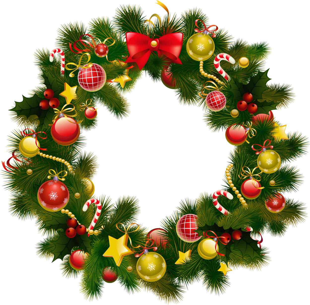 Christmas Wreath Clip Art. 2016/02/18 Christmas Wreath u0026middot; Clipartbest Com