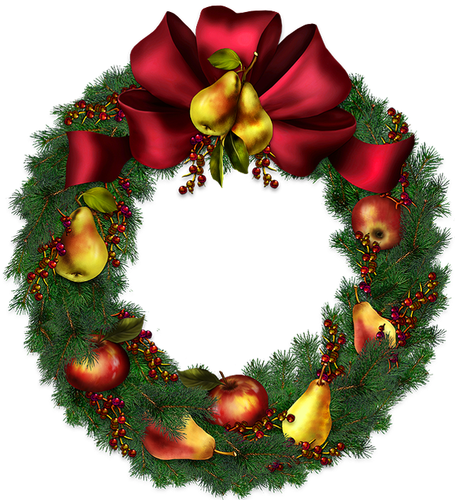 Christmas Wreath Transparent .-Christmas Wreath Transparent .-9