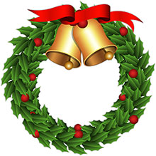 Christmas Wreath With Bells-Christmas wreath with bells-15