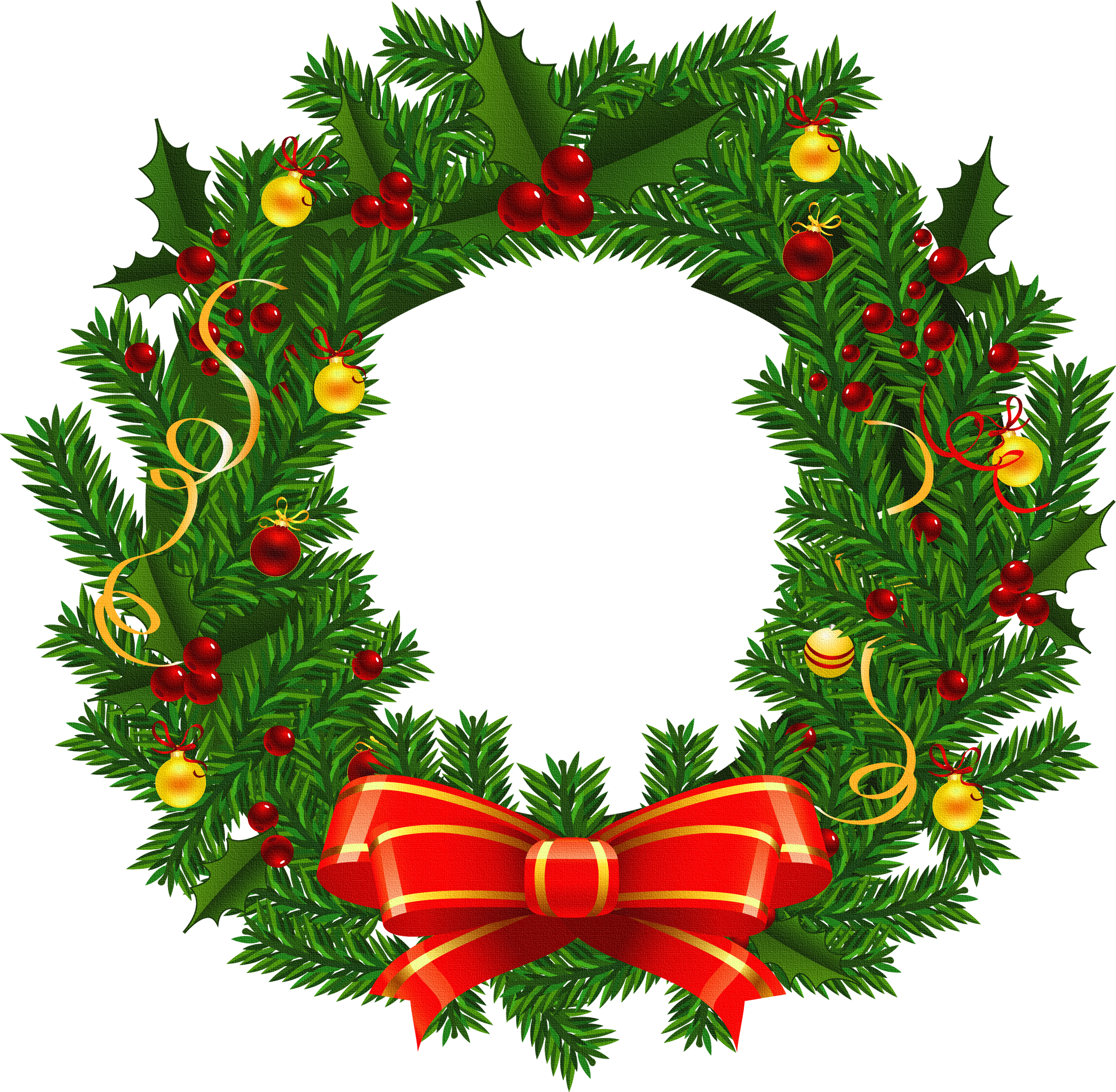 Christmas Wreaths Pictures Clip Art Clipart Best