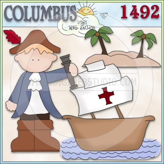 Christopher Columbus 1 - NE Cheryl Seslar Clip Art
