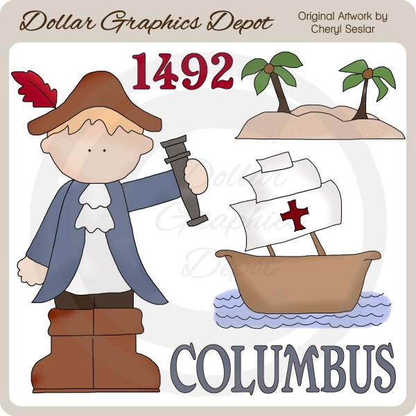 Christopher Columbus - Clip Art-Christopher Columbus - Clip Art-5