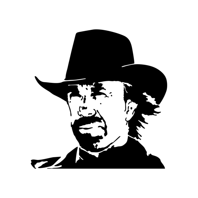 Chuck Norris Texas Cowboy Graphics Desig-Chuck Norris Texas Cowboy graphics design SVG Vector Art Clipart instant-12