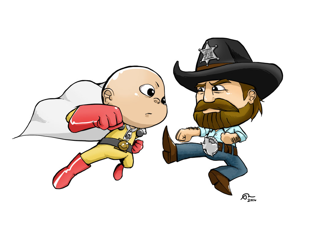 One Punch Man Vs Chuck Norris By Spactan-One punch man vs chuck norris by spactana ClipartLook.com -17