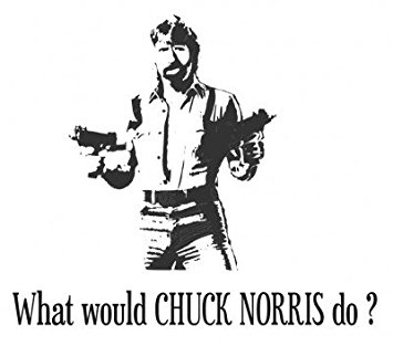 What Would CHUCK NORRIS Do? T SHIRT Whit-What would CHUCK NORRIS do? T SHIRT White GR.XXXL SALE-18