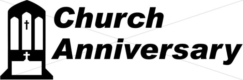 Church Anniversary Clipart