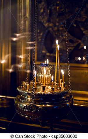 burning Church candles - csp35603600-burning Church candles - csp35603600-18