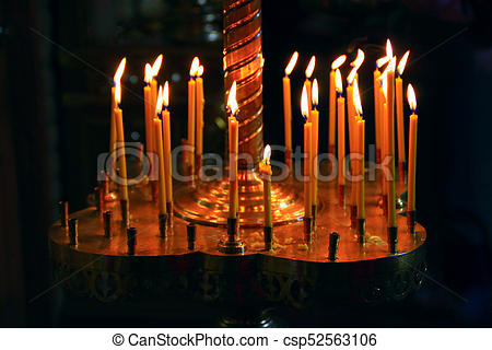 church candles - csp52563106