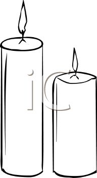Picture of 2 Burning Votive Candles In B-Picture of 2 Burning Votive Candles In Black and White In a Vector Clip Art  Illustration - Royalty Free Clipart Illustration-10