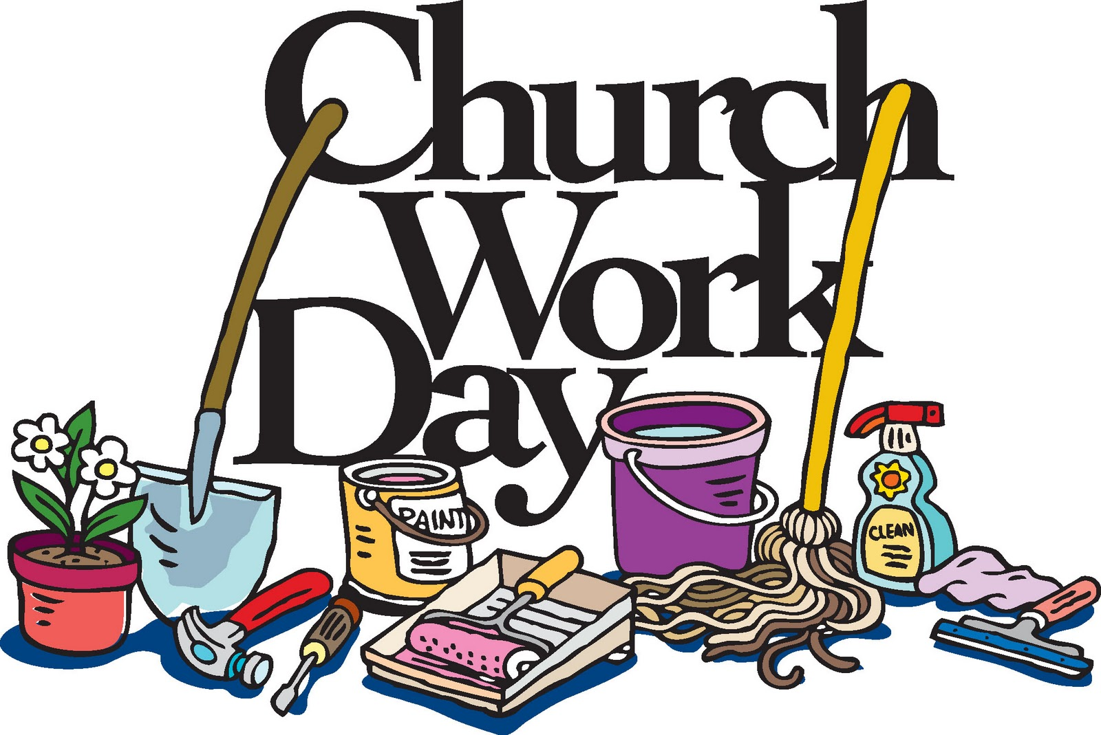 Church Clean Up Clipart