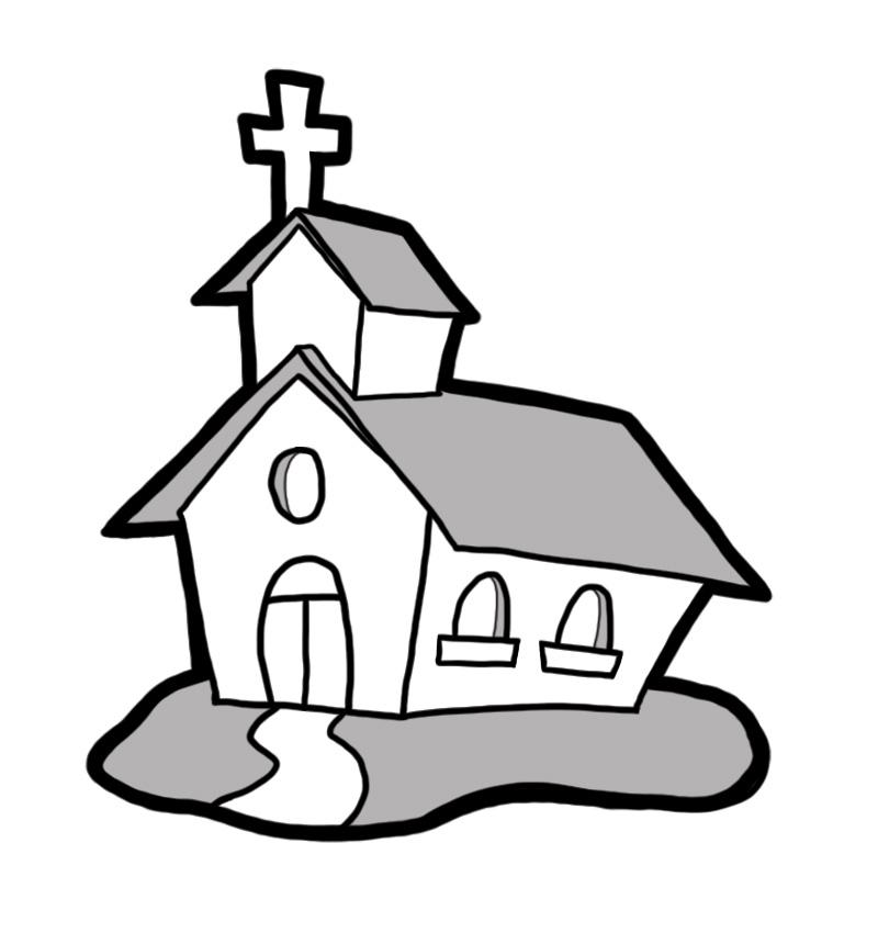 Church Clip Art Black And ..