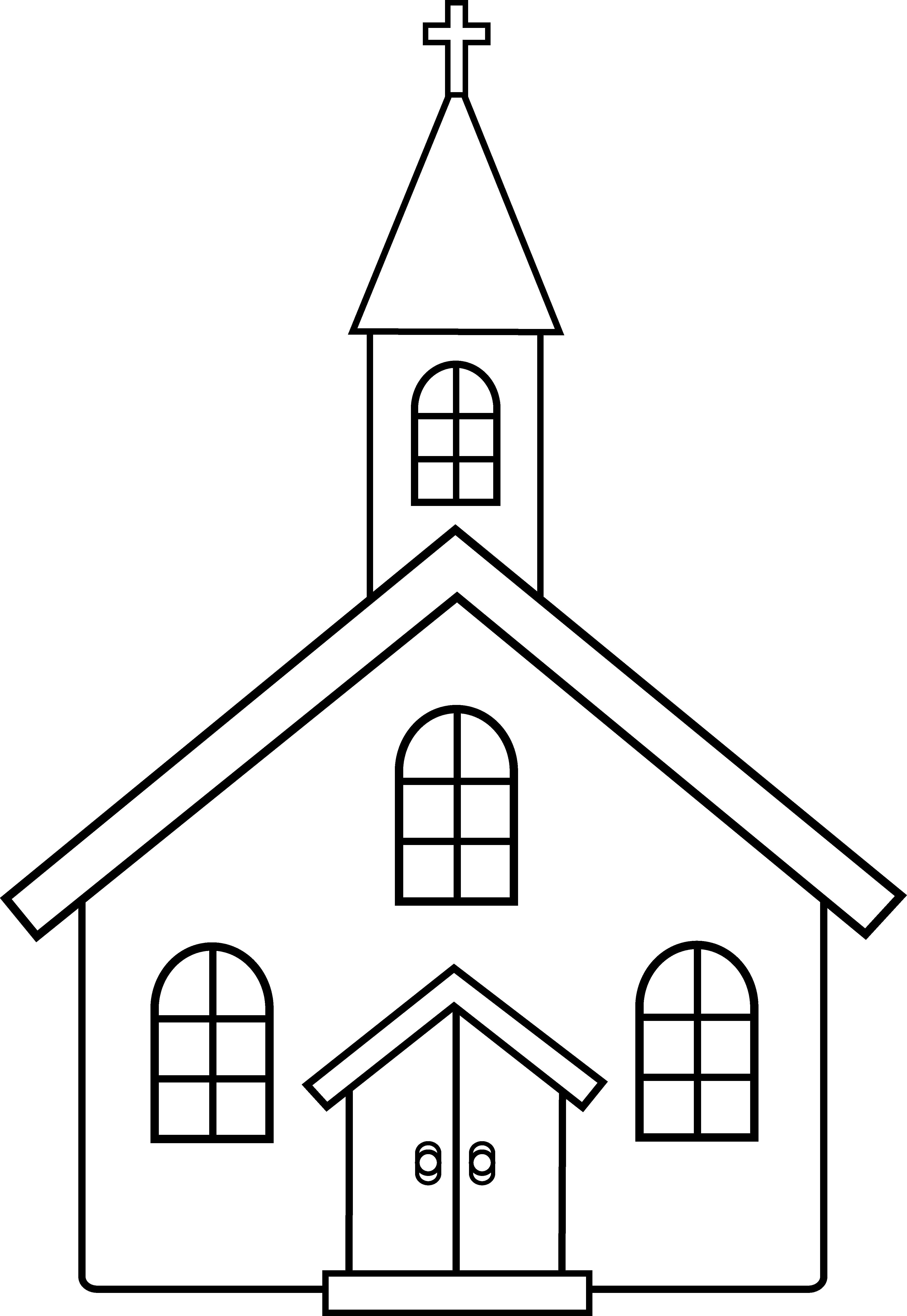 Church Clipart Black And White-Church clipart black and white-9