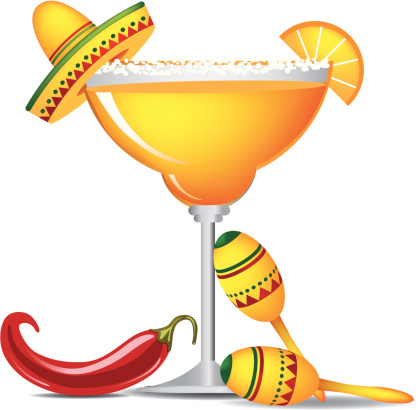 Cinco De Mayo Margaritas - Margarita Glass Clip Art
