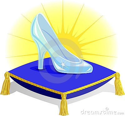 cinderella glass slipper clipart