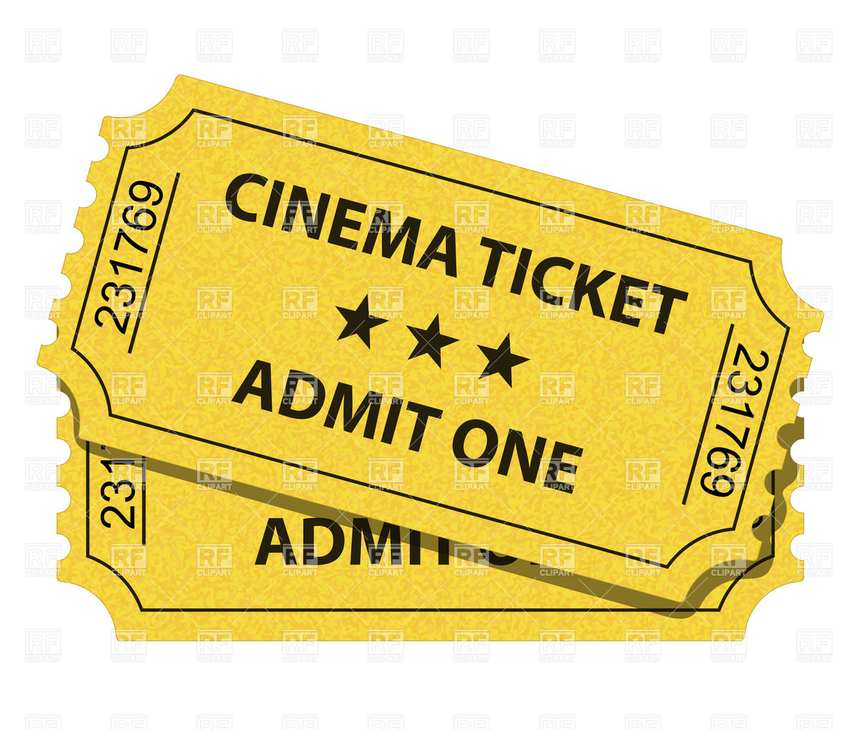Cinema Ticket Download Royalt - Movie Tickets Clipart
