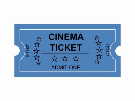 Cinema Tickets Clip Art Powerpoint Template Slide2