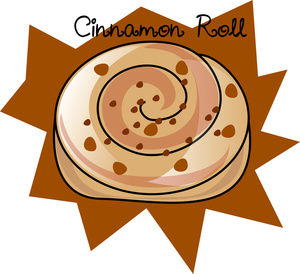 Cinnamon Roll Clipart Image: Tasty Cinnamon Roll Graphic