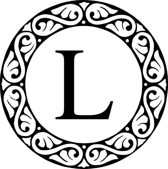 Circle Sroll Letter L Monogram Clip Art at Clker clipartall.com - vector clip .