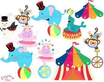 Circus Animals Clipart