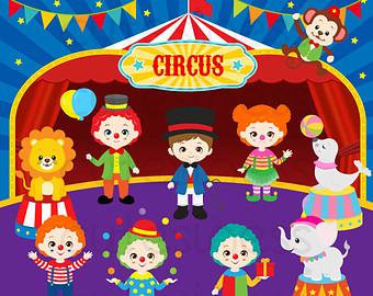 Circus Digital Clipart, Circus Clipart, -Circus Digital Clipart, Circus Clipart, Carnival Clipart, Clown clipart-13