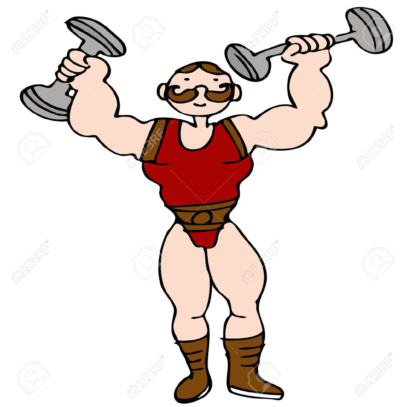 Circus Strong Man Clipart