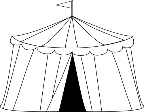 Circus Tent Clip Art Image - Black And W-Circus Tent Clip Art Image - black and white outline of a circus tent | VBS u003d) | Pinterest | Carnivals, Clip art and Graphics-7