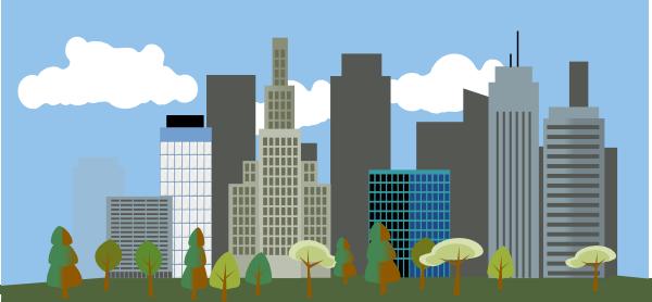 City Clipart: Cartoon City Clipart #1-City clipart: Cartoon City Clipart #1-3
