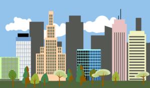 City-skyline Clip Art-City-skyline Clip Art-7