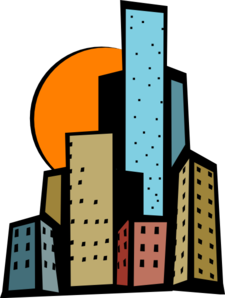 Skyscrapers In The City Clip Art-Skyscrapers In The City Clip Art-14