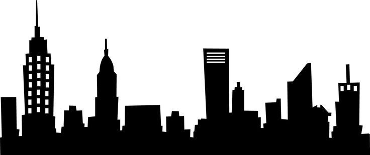 Cityscape City Skyline Black And White C-Cityscape city skyline black and white clip art clipart image-5