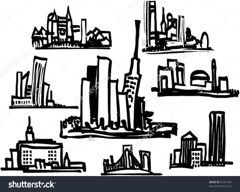 Cityscape clip-art