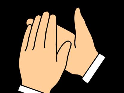 ... clapping hands transpa b g clip art at clker com vector clip ...