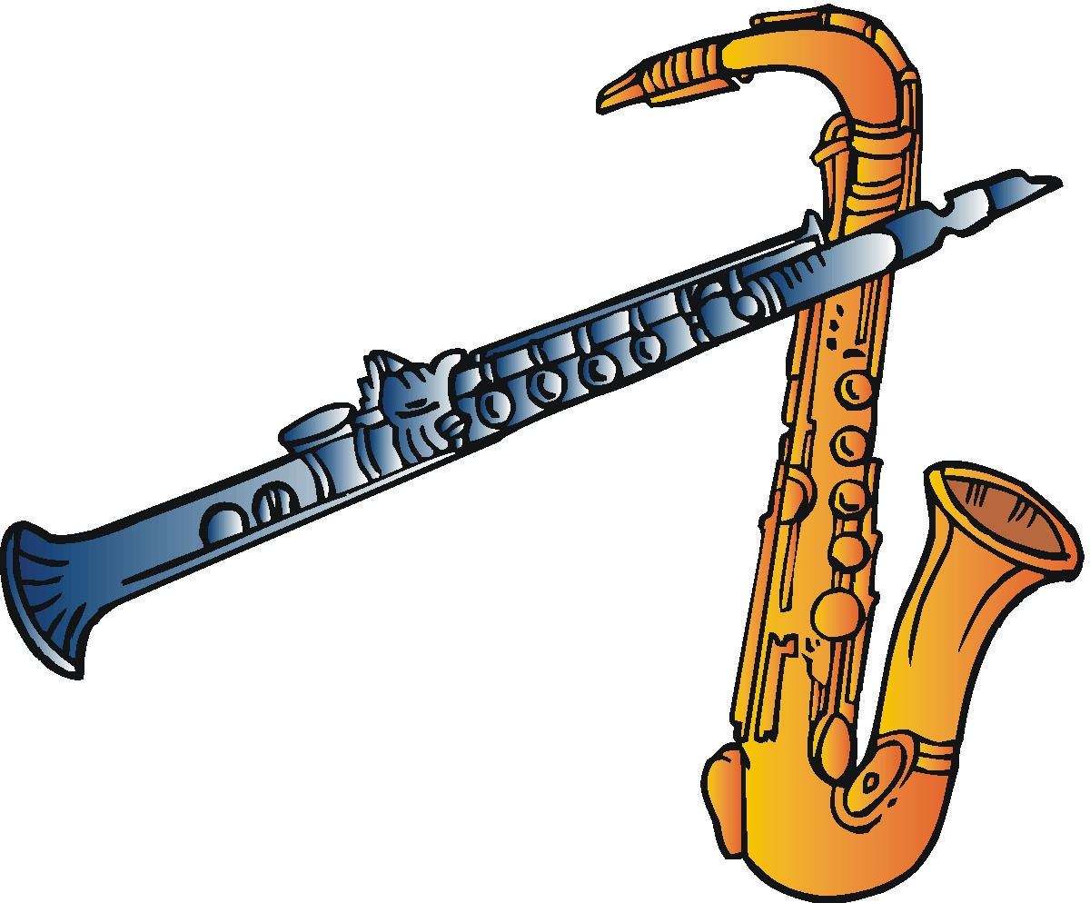 Clarinet Clipart craft projects, Electronic Clipart - Clipartoons ...