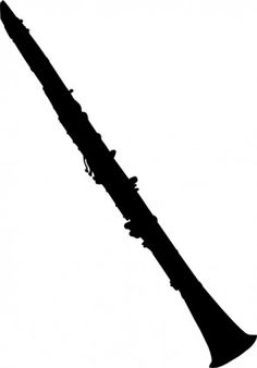 Clarinet Silhouette clip art-Clarinet Silhouette clip art-16