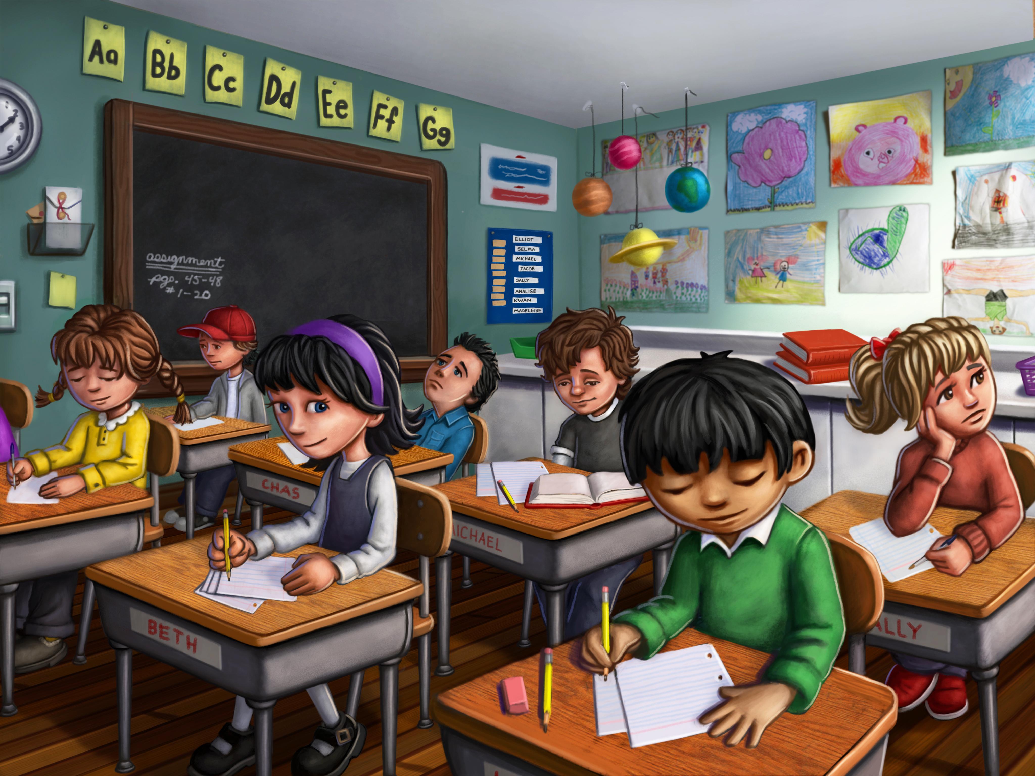 class clipart classroom