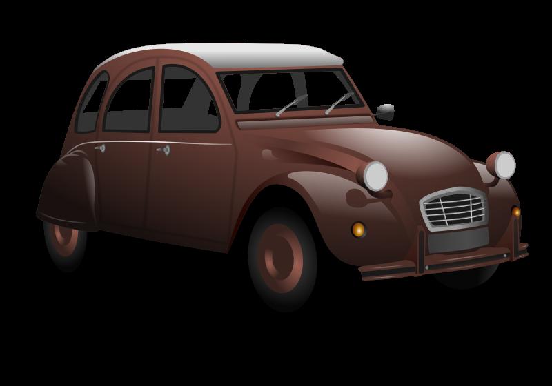 Automobile clipart: Brown Classic Car Clip Art