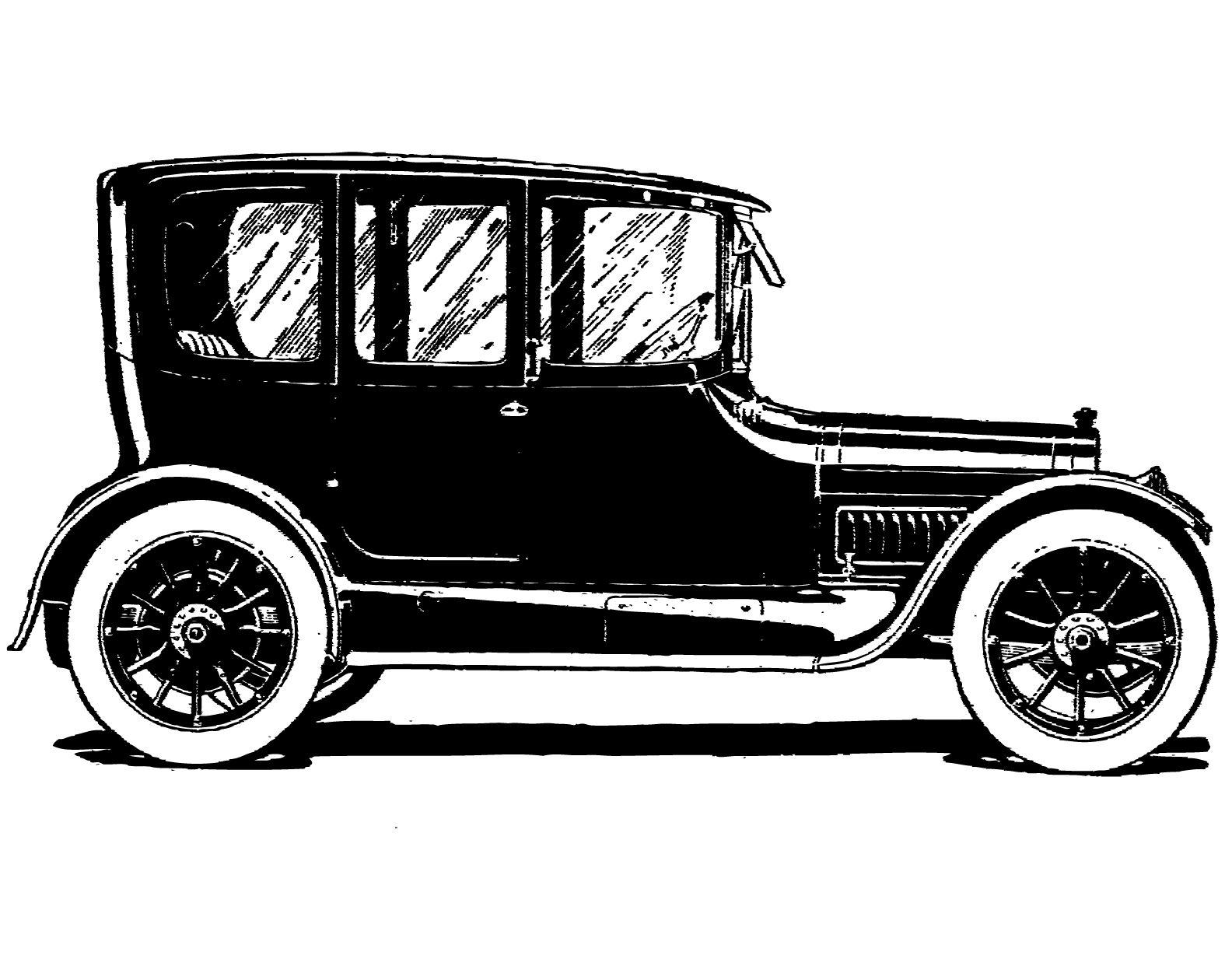 Free Vintage Clip Art Images: Vintage Ca-Free vintage clip art images: Vintage cars and coaches clip art-6