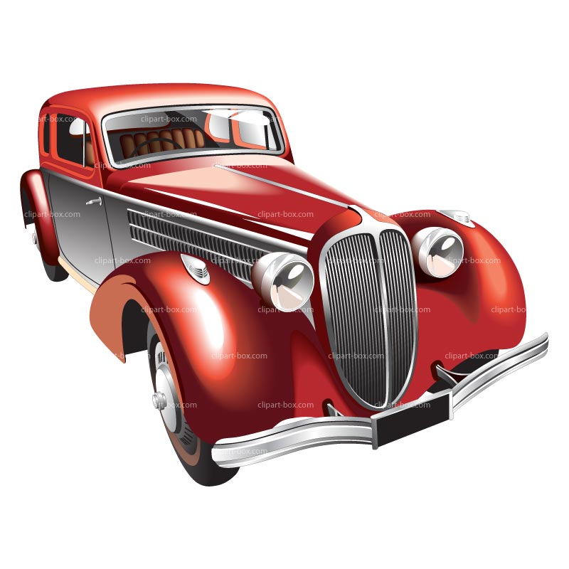 Old Classic Car Clipart #1