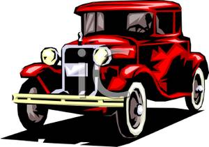 Realistic Classic Car - Royalty Free Clipart Picture