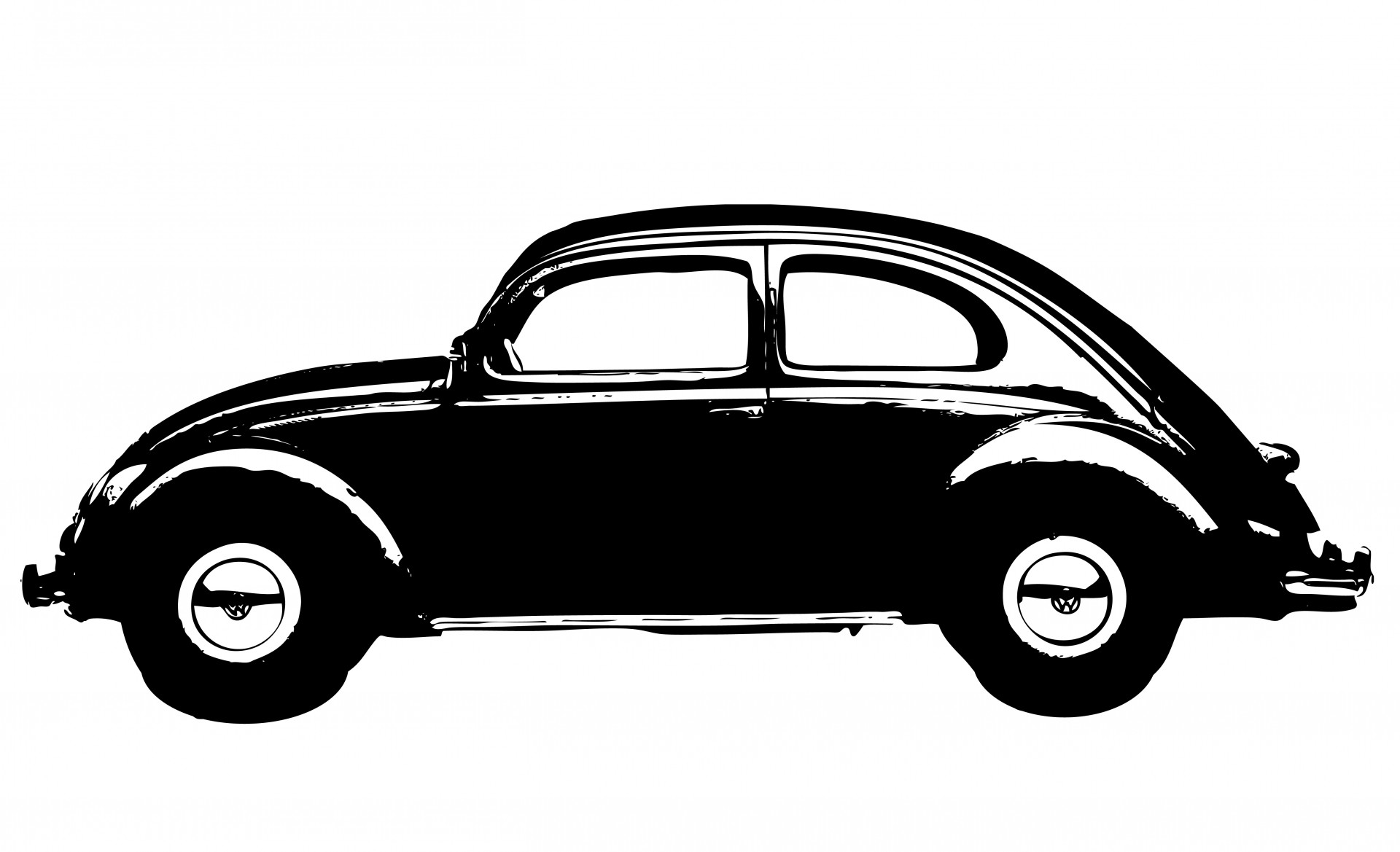 Vintage Car Black Clipart