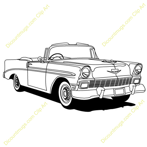 Classic Car Show Clip Art 1950s Chevy Be-Classic Car Show Clip Art 1950s Chevy Belair Car-13