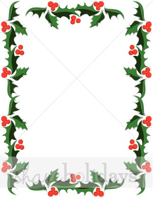 Classic Holly Christmas Border Clip Art -Classic Holly Christmas Border Clip Art Item 2 Vector Magz-9
